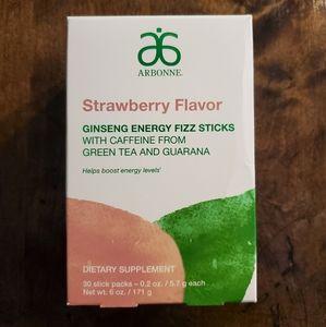 NEW Arbonne Strawberry Energy Fizz Sticks